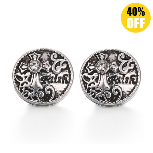 Cross Snap Charms Jewelry LSSN12MM08