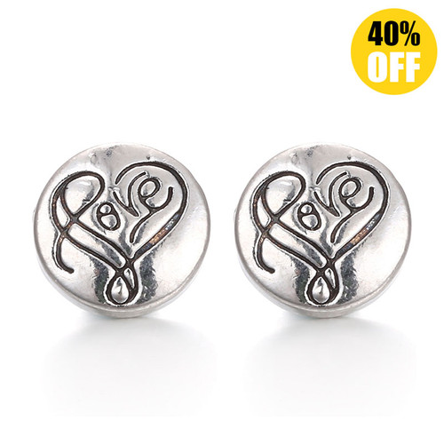 Heart Snap Charms Jewelry LSSN12MM09