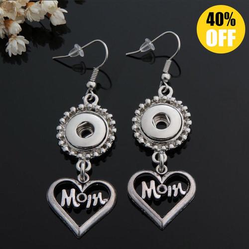Heart Mom Sanp Button Earring For Women LSEN12MM12