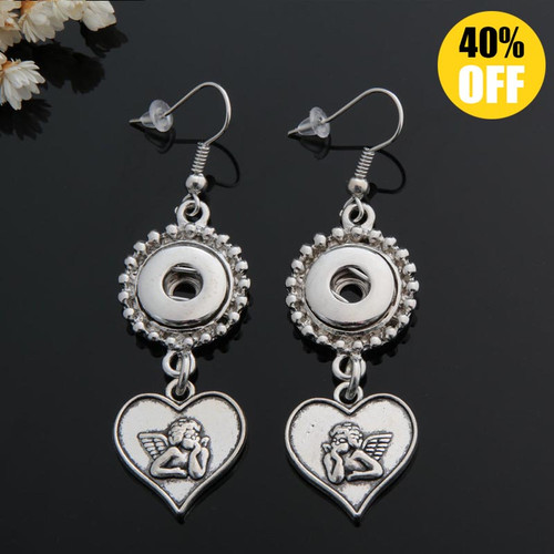 Angel Sanp Button Earring For Women LSEN12MM40