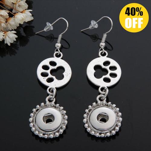 Dog footprint Snap Button Earring For Women LSEN12MM63