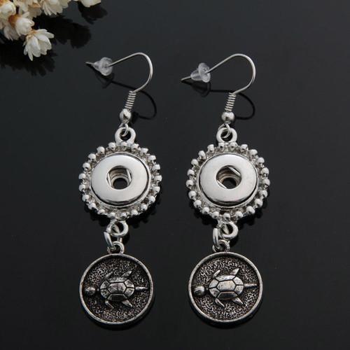 1 Pair! Tortoise Snap Button Earring For Women Fit 12mm Snap Button LSEN12MM38