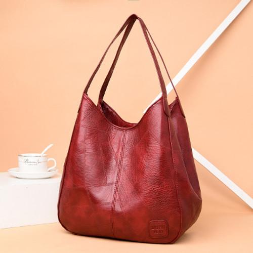 Fashion Tote Bag Women Leather PU Shoulder Bag Women Solid Vintage Women's Handle Crossbody Bag