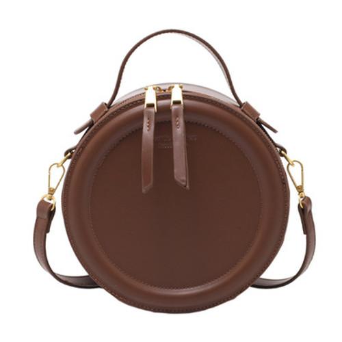 Women's Fashion Pu Shoulder Bag Messenger Small Round Bag