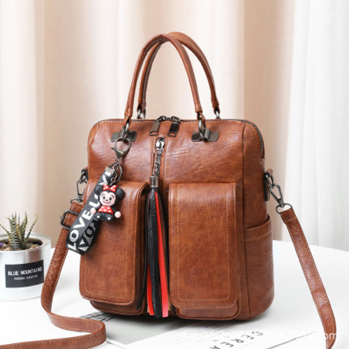 Women Single And Double Shoulder Dual-use Bag Ladies All-match Fashionable Backpack Square