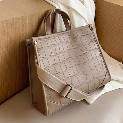 Women's Large Bags Fashion Stone Pattern Handbags Ladies All-match One-shoulder Messenger Bag