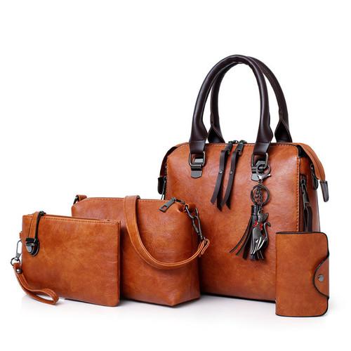 Women's Bags 2020 New Retro Ladies One-shoulder Handbag Fashion Sub-mother Bag