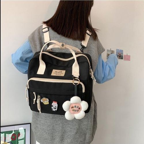 Messenger Bag Female Japanese Canvas Bag Girl One Shoulder Portable College Student Class Bag Backpack Cute