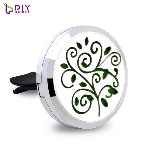 30MM Alloy Flower Car Oil Diffuser Locket Wholesale Fashion Car Aromatherapy Diffuser AP101