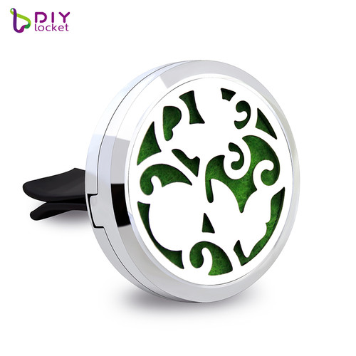 30MM Alloy Beautiful Butterfly Car Oil Diffuser Locket Wholesale Fashion Car Aromatherapy Diffuser AP102