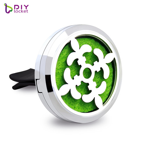 30MM Alloy Car Oil Diffuser Locket Wholesale Fashion Car Aromatherapy Diffuser AP104