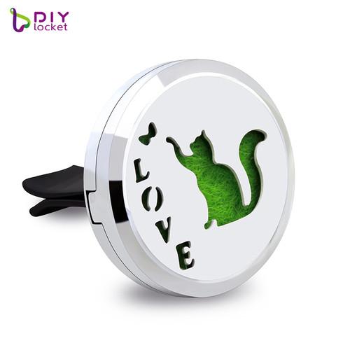 Alloy Cute Love Cat Car Oil Diffuser Locket Wholesale Fashion Car Aromatherapy Diffuser Locket Jewelry AP130
