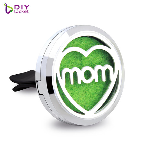 Alloy Heart mom Car Oil Diffuser Locket Wholesale Fashion Car Aromatherapy Diffuser Locket Jewelry AP134