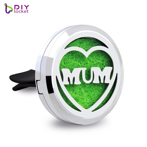 Alloy Heart MUM Car Oil Diffuser Locket Wholesale Fashion Car Aromatherapy Diffuser Locket Jewelry AP135