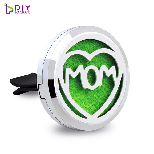 Alloy Heart MOM Car Oil Diffuser Locket Wholesale Fashion Car Aromatherapy Diffuser Locket Jewelry AP136