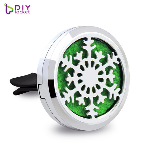Alloy Snowflake Car Oil Diffuser Locket Wholesale Fashion Car Aromatherapy Diffuser Locket Jewelry AP150