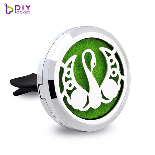 Alloy Beautiful swan Car Oil Diffuser Locket Wholesale Fashion Car Aromatherapy Diffuser Locket Jewelry AP164