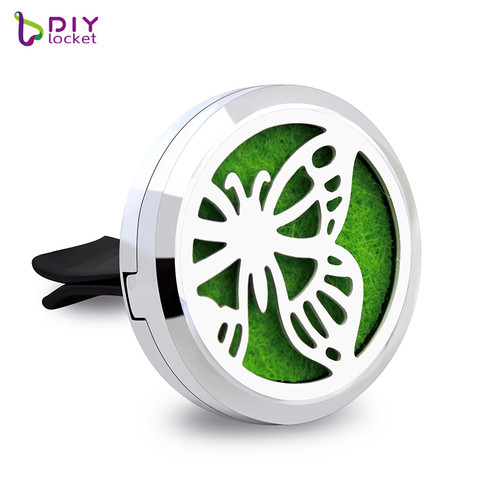 Beautiful Alloy Butterfly Car Oil Diffuser Locket Wholesale Fashion Car Aromatherapy Diffuser Locket Jewelry AP173
