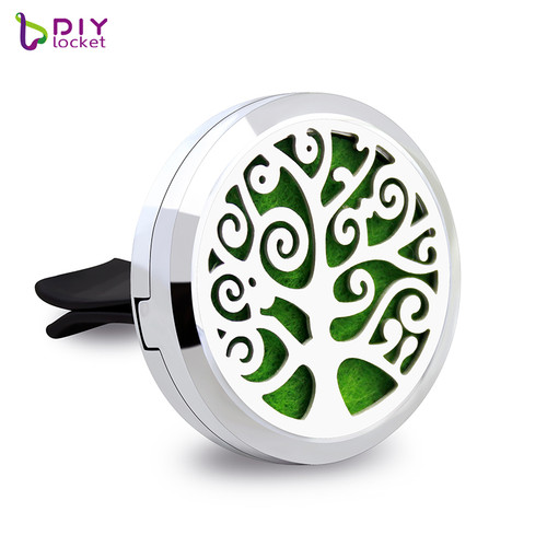 Beautiful Alloy Tree of Life Car Oil Diffuser Locket Wholesale Fashion Car Aromatherapy Diffuser Locket Jewelry AP174