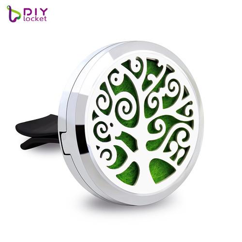Beautiful Alloy Tree of Life Car Oil Diffuser Locket Wholesale Fashion Car Aromatherapy Diffuser Locket Jewelry AP174