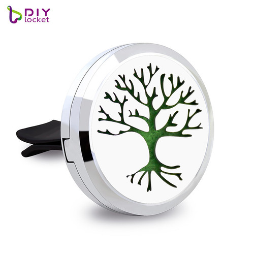Beautiful Alloy Tree of Life Car Oil Diffuser Locket Wholesale Fashion Car Aromatherapy Diffuser Locket Jewelry AP175