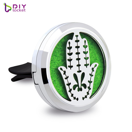 30mm Alloy Hand of Fatima Car Oil Diffuser Locket Wholesale Fashion Car Aromatherapy Diffuser Locket Jewelry AP176