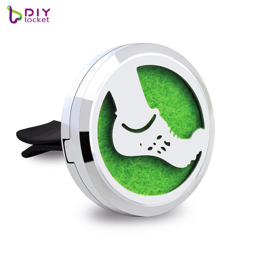 30mm Alloy Foot Car Oil Diffuser Locket Wholesale Fashion Car Aromatherapy Diffuser Locket Jewelry AP178