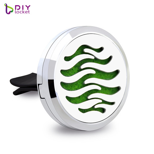 30mm Alloy Car Oil Diffuser Locket Wholesale Fashion Car Aromatherapy Diffuser Locket Jewelry AP182