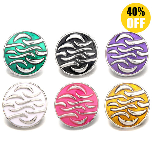 Round Mix Color Button Charms Fashion Snap Jewelry Wholesale For Women LSSN361