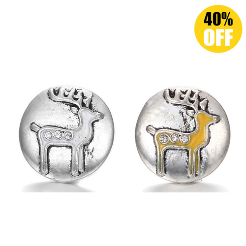 18MM Deer Snap Button Charms LSSN289