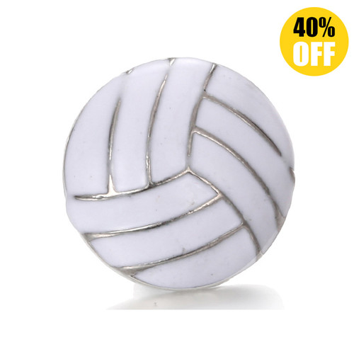 18MM 3D Volleyball Snap Button Charms LSSN284
