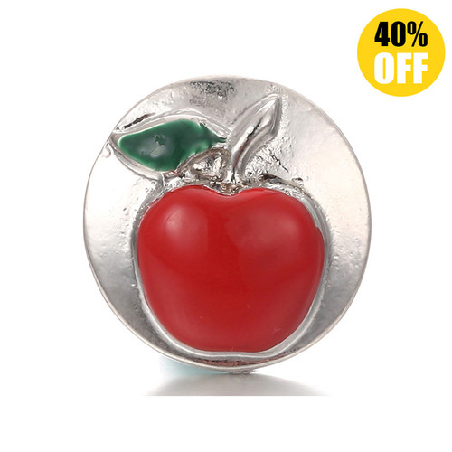 18MM Apple Snap Button Charms LSSN318