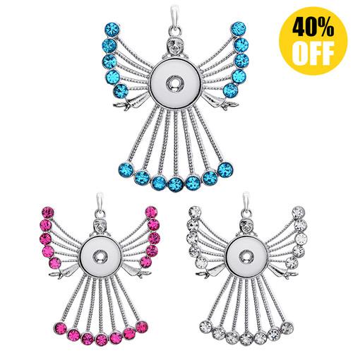 Pretty Girl Snap Button Necklace Pendant LSNP118