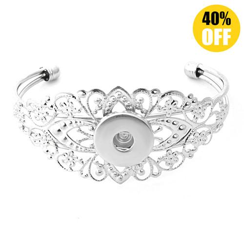 Beautiful Flower Adjustable Snap Bracelet Buttons For Women LSNB50-1