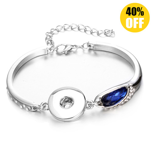 Beautiful Crystal Snap On Button Bracelets For Women LSNB59-1