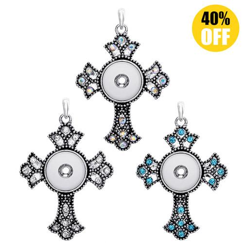 Beautiful Cross Button Pendant For Women LSNP66 (