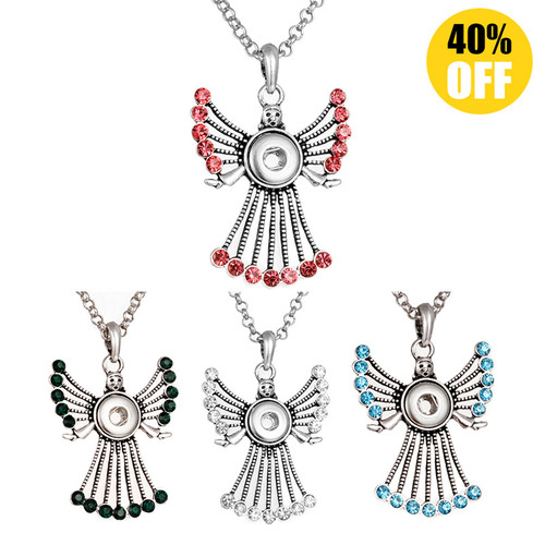 Cute Elf Snap Jewelry Pendants With Rhinestones For Women Fit 12mm Snap Button  LSNP12MM01