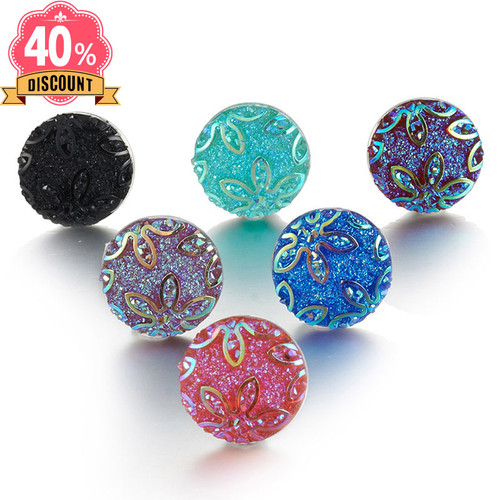 Colorful Crystal 18mm Snap Buttons Fit Snap Button Pendant For Women LSSN639