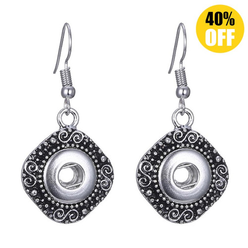 Bohemia Snap Charm Earring For Women Fit 12mm Snap Button Charms LSEN12MM04