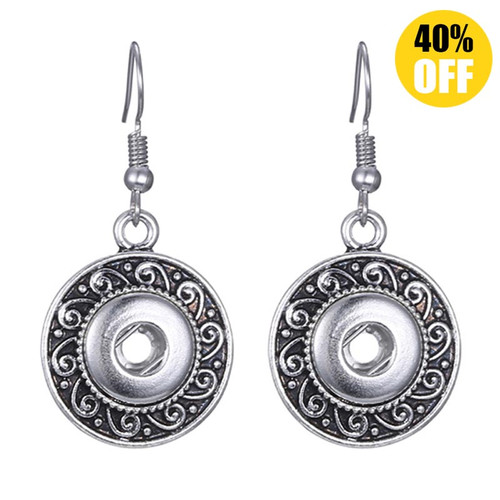 Bohemia Snap Charm Earring For Women Fit 12mm Snap Button Charms LSEN12MM05