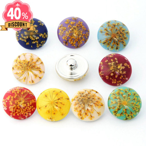 Beautiful Flower 18mm Snap Charms Fit Snap Button Pendant LSSN646