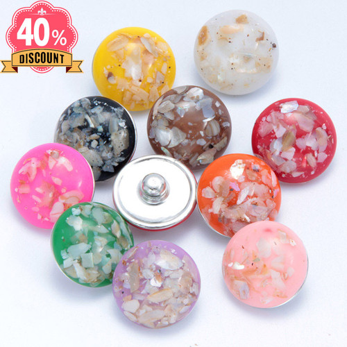 Fashion Stone Wholesale Snap Buttons Round Diy Snap Jewelry LSSN652
