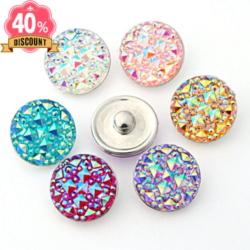 Crystal Round Snap Button Fit Snap Button Pendant For Women LSSN654