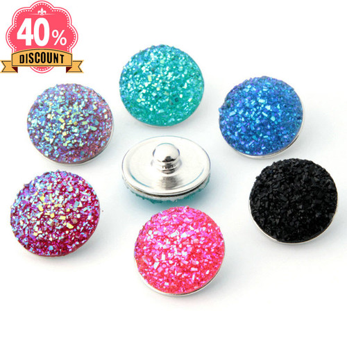 Round Shiny Snap Button Jewelry Fit Snap Button Pendant LSSN656
