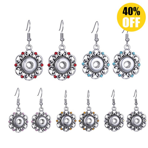 Beautiful Flower Snap Button Earring For Woemn LSEN12MM68