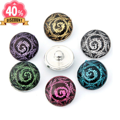 Vintage Snap Button Charms Fashion 18mm Snap Charms Jewelry LSSN658