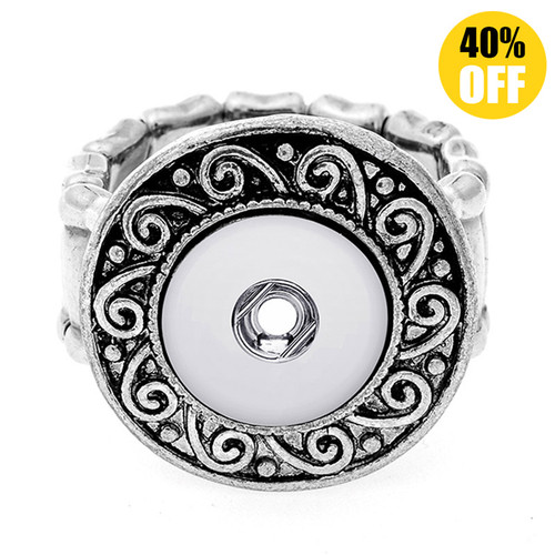 Adjustable Vintage Snap Button Ring Fit 12mm Snap Button LSNR12MM03