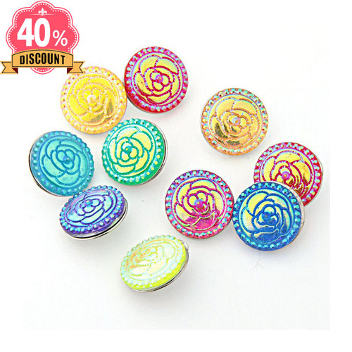 Beautiful Colorful Flower Wholesale Snap Buttons For Women LSSN662