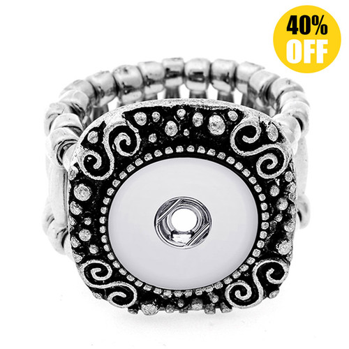 Vintage Snap Button Ring Fit 12mm Snap Button LSNR12MM05