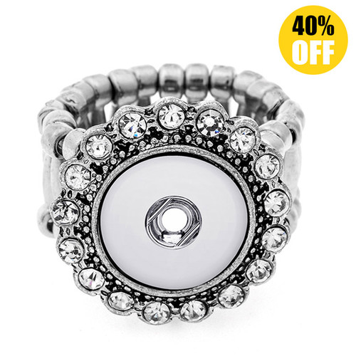 Crystal Snap Button Ring Fit 12mm Snap Button for women LSNR12MM06